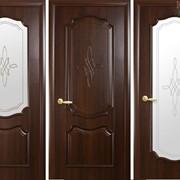 Дверь из бруса Новый стиль Рока каштан фото