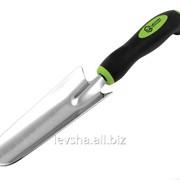 Совок узкий садовый Centroinstrument, нержавейка, с мерной шкалой, резиновая ручка '0456-2 фото