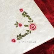 Скатерть с вышивкой 1719 фото