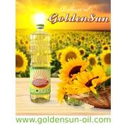 Масло подсолнечное рафинированное дезодорированное 1л GoldenSun™ . фото