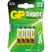 Батарейка LR03 Gp Super коробка фото