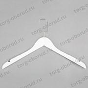 Вешалка (плечики) для одежды деревянная, белая C31(бел/зол) фото