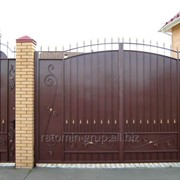 Ворота, заборы, перила, козырьки фото