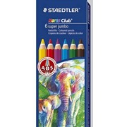 Набор карандашей цветных Staedtler Noris super jumbo, 6 цветов, картонная коробка 6 цветов фото