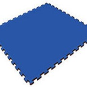 Мягкий пол универсальный, синий, 100х100см, с 2 кромками (Экополимеры) фото