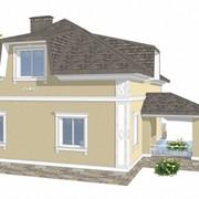 Отделка фасадов лепниной. 3D визуализация фото