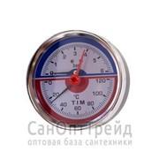 """Термоманометр 1/2"""" горизонтальный (аксиальный) 16 бар TiM фото"""