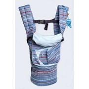 """Эрго рюкзак-переноска """"My baby Морской"""" (голубая подкладка) фото"""