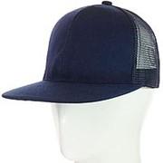 Кепка с прямым козырьком 62017-3 темно-синий фото