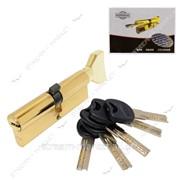 Секрет латунный Imperial СК90 (45/45) (лазер, ключ/поворот, золото) (5 ключей) (CK90 45/45РВ) №329592 фото