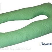 """Подушка для беременных Maxi Exclusive """"Зеленая с узором"""" фото"""