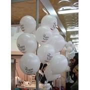 Печать логотипа на воздушных шарах фото