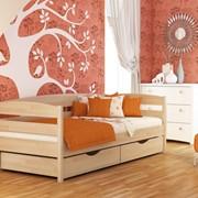 Кровати односпальные, Кровать Нота-плюс (бук) фото