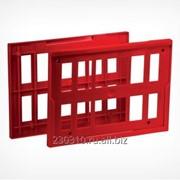 Комплект из 2-х пластиковых рамок на покупательскую тележку фото
