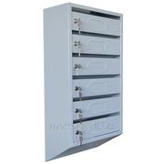 Ящик почтовый металлический 4-ёх секционный фото