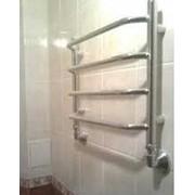 Установка полотенцесушителя. фото