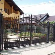 Ворота распашные из металла №24 фото