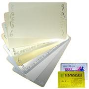 Бизнес визитка под сублимацию. Серебро золото всего 6 типов. фото