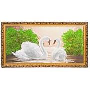 """Картина """"Встреча на закате"""" багет 39х76 см К249 фото"""