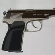 Пистолет пневматический Мр-654к «никель» фото