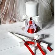 Свадебные свечи в красном фото