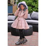 Куртка для девочек колокольчик (5 цветов) - Бежевый KL/-255 фото
