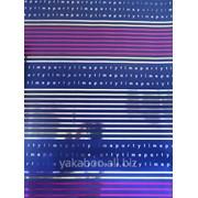 Услуга упаковки подарка бумагой Разноцветные полоски фото
