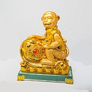 Сувенир Обезьяна на золоте! фото