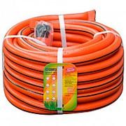 Шланг поливочный Д=3/4 (20м) оранжевый с полосой (фитинг в подарок) фото