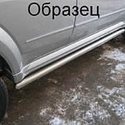 Пороги VW Touareg 2006-2009 (вариант 3 труба 76 мм) фото