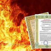 Пожарная лицензия МЧС фото
