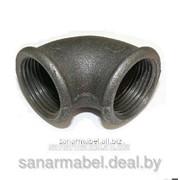 Угольник Ду20 черный чугунный фото