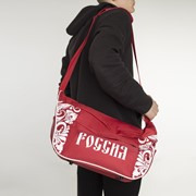 Сумка спортивная, отдел на молнии, 3 наружных кармана, цвет красный фото