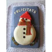 Торт Новогодний Снеговик №020 код товара: 43952 фото