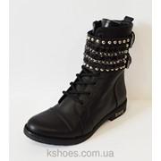 Кожаные зимние ботинки Aquamarine 933-12 фото