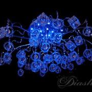 Галогеновая люстра со светодиодной подсветкой фото