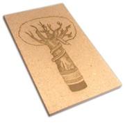 Лазерная гравировка картона фото