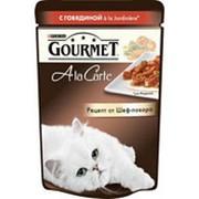 Корм для кошек GOURMET Ala carte с говядиной, 85г фото
