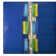 Кошелек Зеркальный синий фото