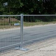 Мобильное (передвижное) ограждение,забор фото