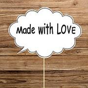 "Речевое облачко ""Made with love"" (Арт. F-141) фото"