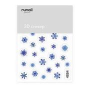 RuNail, 3D-стикер №4884 «Снежинки» фото