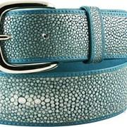Ремень из шлифованной кожи ската STMBB1-5SA Aquamarine фото