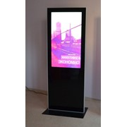 Размещение рекламы на видео-аудио стоике в Уфе. фото