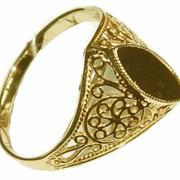 Кольцо Au золотое артикул КМ-1, Вес: 2,65, Размер: 19,5 фото