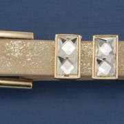 Ремень Р-2, золотой, с блеском фото