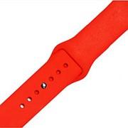 Силиконовый ремешок для часов Apple Watch 38mm (Red) фото