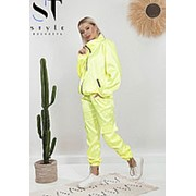 Атласный лимонный спортивный костюм женский (2 цвета) TF/-2071 фото