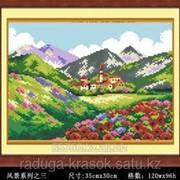 Картина-мозаика стразами У подножья горы 35х30 см фото