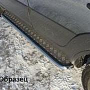 Пороги Chevrolet Niva 2009-наст. время (с площадкой нерж. сталь 42,4 мм) фото